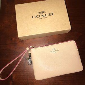 Coach Nude/Pink Wristlet